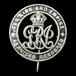 Silver War Badge, reverse numbered: 'B274967' awarded to Private E.G. Spokes, Labour Corps, who w...