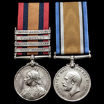 A South Africa Boer War and Great War pair awarded to Lieutenant C.A.W. Hawker, 3rd Militia Batta...