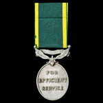 Efficiency Medal, GVI 1st type bust, Territorial suspension, awarded to Corporal S.L. Wright, Roy...