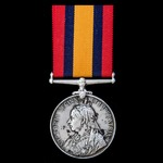 A Queen's South Africa Medal 1899-1902, no clasp, awarded to Private G. West, Burghersdorp Town G...