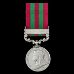 India General Service Medal 1895-1902, 1 Clasp: Punjab Frontier 1897-98, awarded to a Viceroy's C...