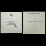   Original Second World War Mention in Despatches Certificate, issued to an Egyptian, Kaimakam M...