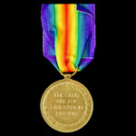 Victory Medal awarded to Private J. Bales, Royal Warwickshire Regiment later Labour Corps, who sa...