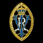 A Queen's Institute District Nursing Badge for 21 Years Service, non hallmarked gilt version, awa...