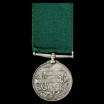Volunteer Force Long Service Medal, Victoria Regina bust, officially impressed naming, awarded to...