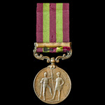India General Service Medal 1895-1902, Bronze issue, 1 Clasp: Relief of Chitral 1895, awarded to ...