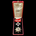 Italy – Order of the Crown of Italy, Knight Commander's Set, with neck badge in gold, gilt and en...