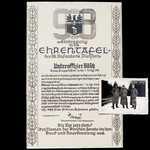 Germany - Third Reich: Certificate of Entry in the Honour Roll of the 98th Infantry Division, iss...