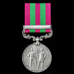India General Service Medal 1895-1902, 1 Clasp: Relief of Chitral 1895, awarded to Private W.J. B...