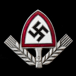Germany – Third Reich: Reichsarbeitsdienst RAD Cap Badge, with two prongs on reverse, patent mark...