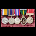 A fine Great War and Second World War Canada, Canadian Efficiency Decoration and Canadian Forces...