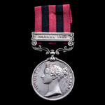 India General Service 1854, 1 clasp, Hazara 1888 (1324 Pte. P. Leary, 2d. Bn.R. Ir. R.).