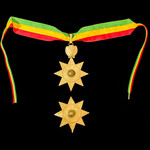 Ethiopia - Imperial Order of the Star of Ethiopia, Grand Officers neck badge and breast star set ...