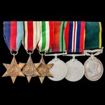 Second World War North Africa and Italy, Territorial long service group awarded to Private A.A. H...