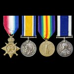 Great War Home Waters, Mediterranean and Aegean operations long service group awarded to Stoker 1...