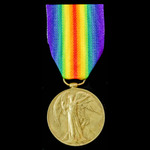Victory Medal awarded to Private E.G. Bennington, Northamptonshire Regiment who saw service out o...