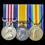 A Canadian Great War Battle of Amiens Military Medal group awarded to Sergeant J. Benson, 2nd Bat...