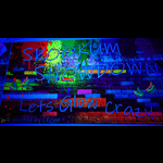 Custom Print Blacklight UV Reactive Neon Backdrops Banners - Made To Order