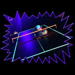 UV Reactive Glow Sports / UV Sports Fluorescent Table Tennis Ping Pong Kit
