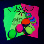 UV Reactive Glow Sports / UV Sports Blacklight 6-a-side Dodgeball Kit