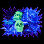 Blacklight UV-Reactive Neon Fluorescent Dayglo Glow Skull