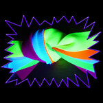Blacklight UV-Reactive Neon Fluorescent Dayglo Polyester Ribbon/Banding