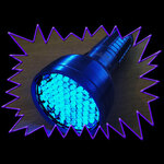 UV Gear Fluorescence Torch 76 LED, 390nm peak