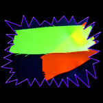 Blacklight UV-Reactive Neon Fluorescent Dayglo Polyester Fabric Material Durable Non-Stretch
