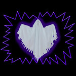 UV reactive Glow Blacklight Neon colour Fluorescent hanging ghosts decoration