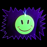 Ultra Violet 'Aceeed Smiley Face' Acrylic