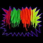 Blacklight UV Reactive Neon Glow Fluorescent Shoe Laces - Team Pack