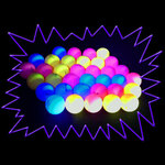 Blacklight UV-Reactive Neon Fluorescent Dayglo Ping Pong Balls