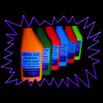 Blacklight UV-Reactive Neon Fluorescent Dayglo Fabric Paint Set - Small