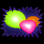 Blacklight UV-Reactive Neon Fluorescent Dayglo Latex Oval Balloons (Helium Quality)
