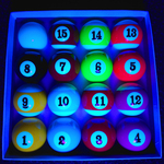 Blacklight UV-Reactive Neon Fluorescent Dayglo Pool Ball Set
