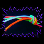 Blacklight UV-Reactive Neon Fluorescent Dayglo Elastic Shock/Bungee Cord 3mm
