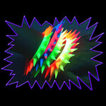 Blacklight UV-Reactive Neon Fluorescent Dayglo Reactive Spikey Punk Bracelet
