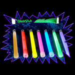 Glowsticks - Party Pack of 25 Mixed Colours 6 Inch Size Extra Long Glow
