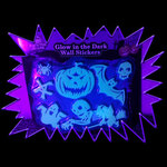 UV-Reactive Neon Fluorescent Glow in the Dark Plastic Halloween Sticker set