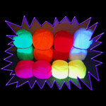 Blacklight UV-Reactive Neon Fluorescent Dayglo Nylon Yarn (Wool)