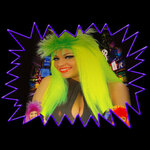 Blacklight UV-Reactive Neon Fluorescent Glow Dayglo Punkadelic Party Wig