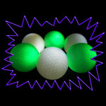 Blacklight UV-Reactive Neon Fluorescent Dayglo Flylite Golf Balls
