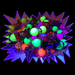 Blacklight UV-Reactive Neon Fluorescent Dayglo Charm Bracelet
