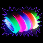 Blacklight UV-Reactive Neon Fluorescent Dayglo non-residue floor marking cloth tape 24mm