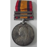 A Queen's South Africa Medal 1899-1902, two clasps, Cape Colony, South Africa 1902, awarded to Pr...