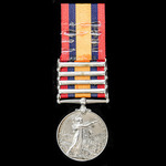 Queens South Africa Medal, four clasps, Orange Free State, Transvaal, South Africa 1901, South Af...
