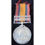 Queens South Africa Medal 1899-1902, 2 Clasps: Transvaal, South Africa 1902; (4052 PTE J. WILTSHI...