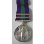 General Service Medal 1918-62, Eliz II, two clasps, Near East and Cyprus named to 23198068 Sapper...