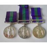 Lot of 3 General Service Medal 1918-62, Eliz II, clasp Cyprus named to: a) 23254657 Craftsman B.M...