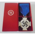 Germany. Third Reich. Faithful Service Cross in silver, in unmarked box of issue.